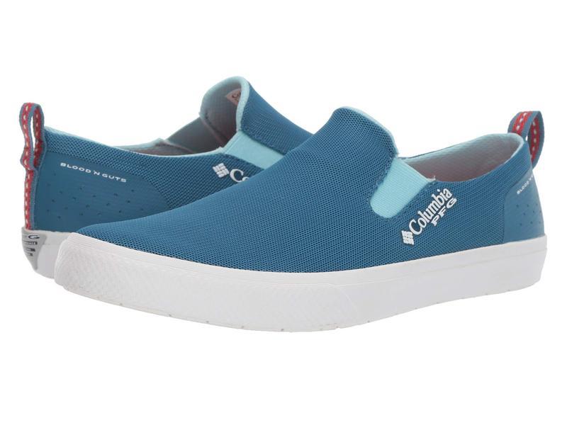 コロンビア レディース スニーカー シューズ Dorado¢ Slip PFG Mineral Blue/Coral