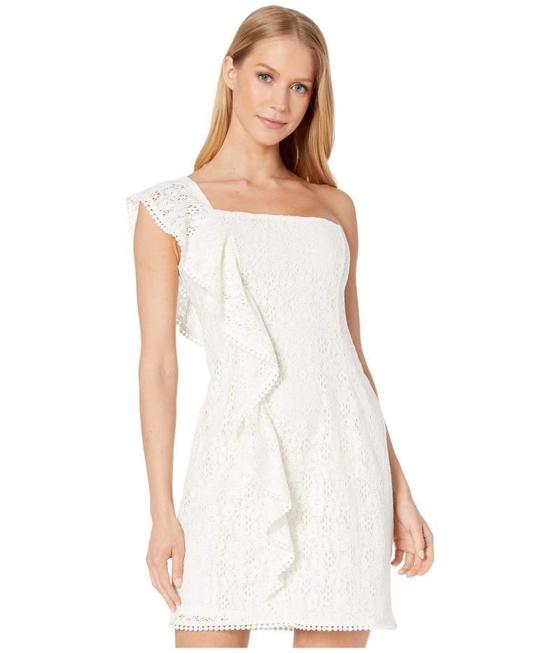 カップケーキアンドカシミア レディース ワンピース トップス Aresa Lace One Shoulder Ruffle Dress Marshmallow