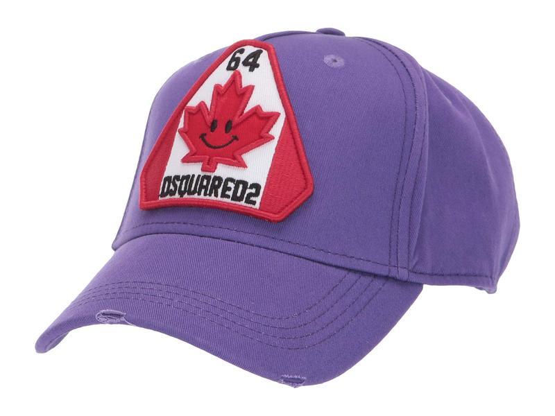 送料無料 サイズ交換無料 ディースクエアード メンズ アクセサリー 帽子 Viola ディースクエアード メンズ 帽子 アクセサリー Rave Maple Leaf Baseball Cap Viola