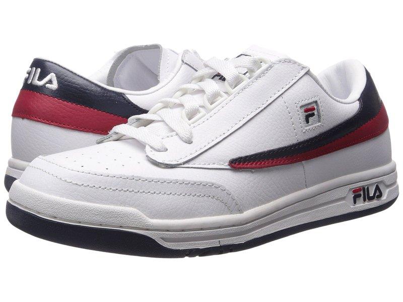 フィラ メンズ スニーカー シューズ Original Tennis White/Fila Navy/Fila Red