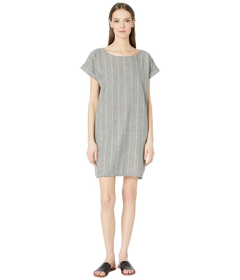 エイリーンフィッシャー レディース ワンピース トップス Organic Cotton Hemp Striped Shift Dress Moon