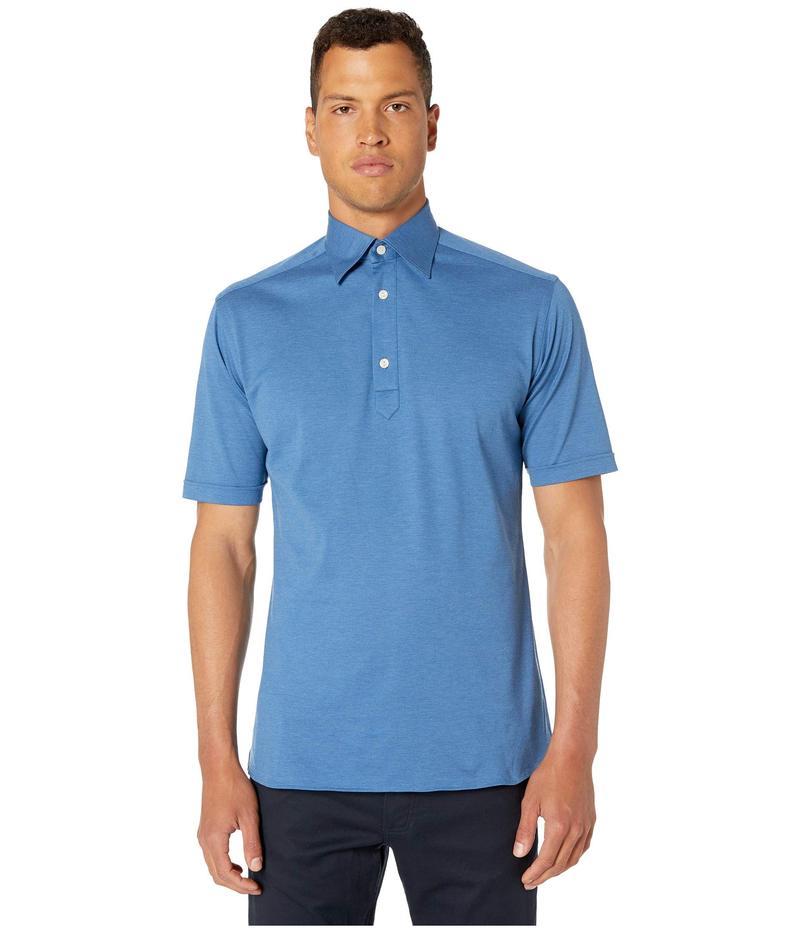 エトン メンズ シャツ トップス Classic Polo Mid Blue