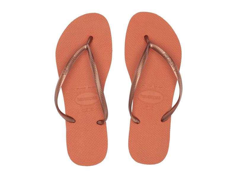 ハワイアナス レディース サンダル シューズ Slim Flip Flops Burnt Orange
