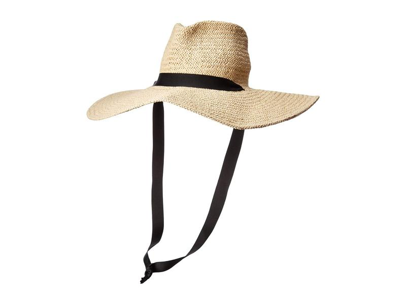 送料無料 サイズ交換無料 ハットアタック レディース アクセサリー 帽子 Natural/Black ハットアタック レディース 帽子 アクセサリー Belle Chinstrap Hat Natural/Black