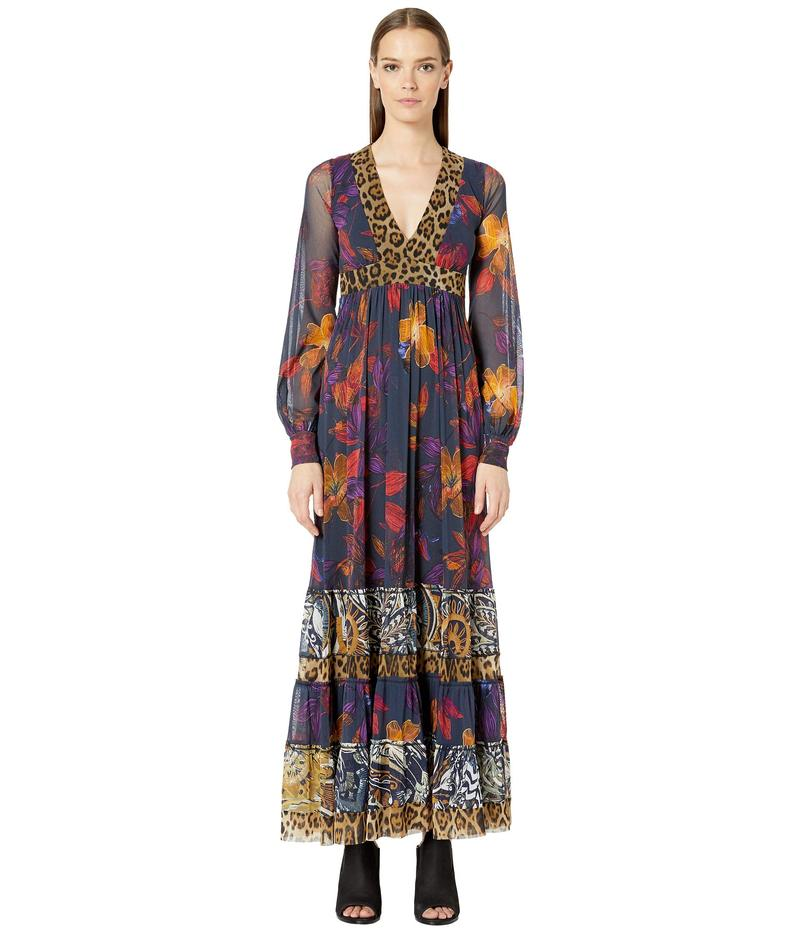 フィッジ レディース ワンピース トップス Gypsy Patchwork Long Sleeve Dress Avio