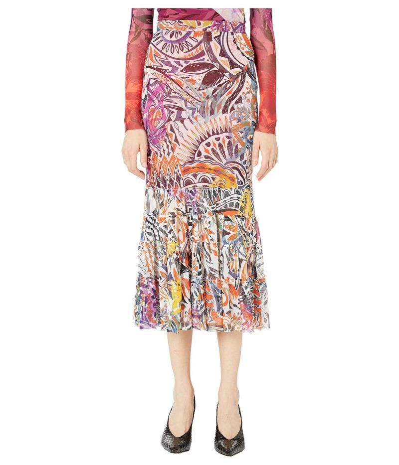 フィッジ レディース スカート ボトムス Printed Mystical Skirt with Flare Bottom Multicolor