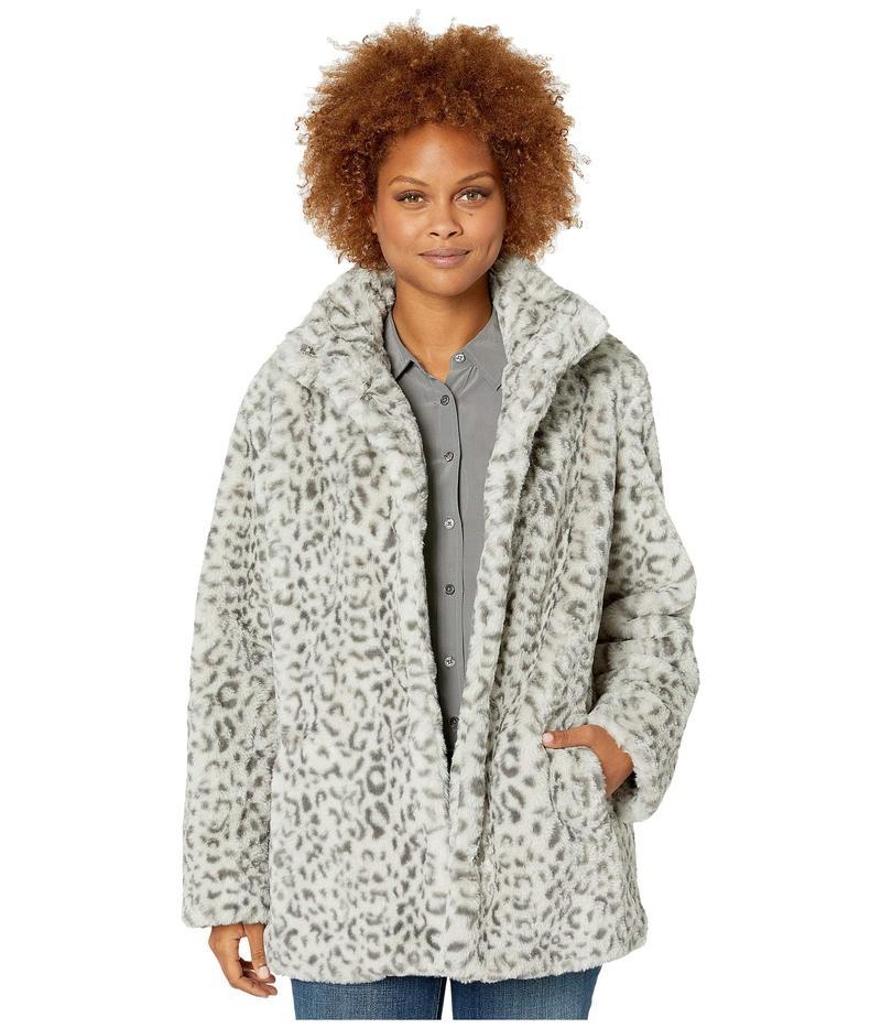 ケネスコール レディース コート アウター Snow Leopard w/ Faux Fur Snow