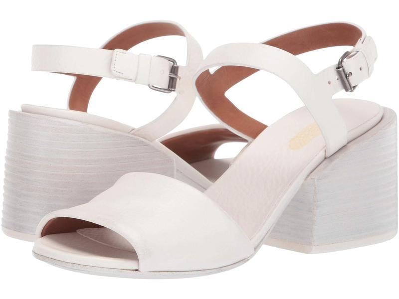 マルセル レディース ヒール シューズ Stacked Heel Cut Out Sandal Optic White