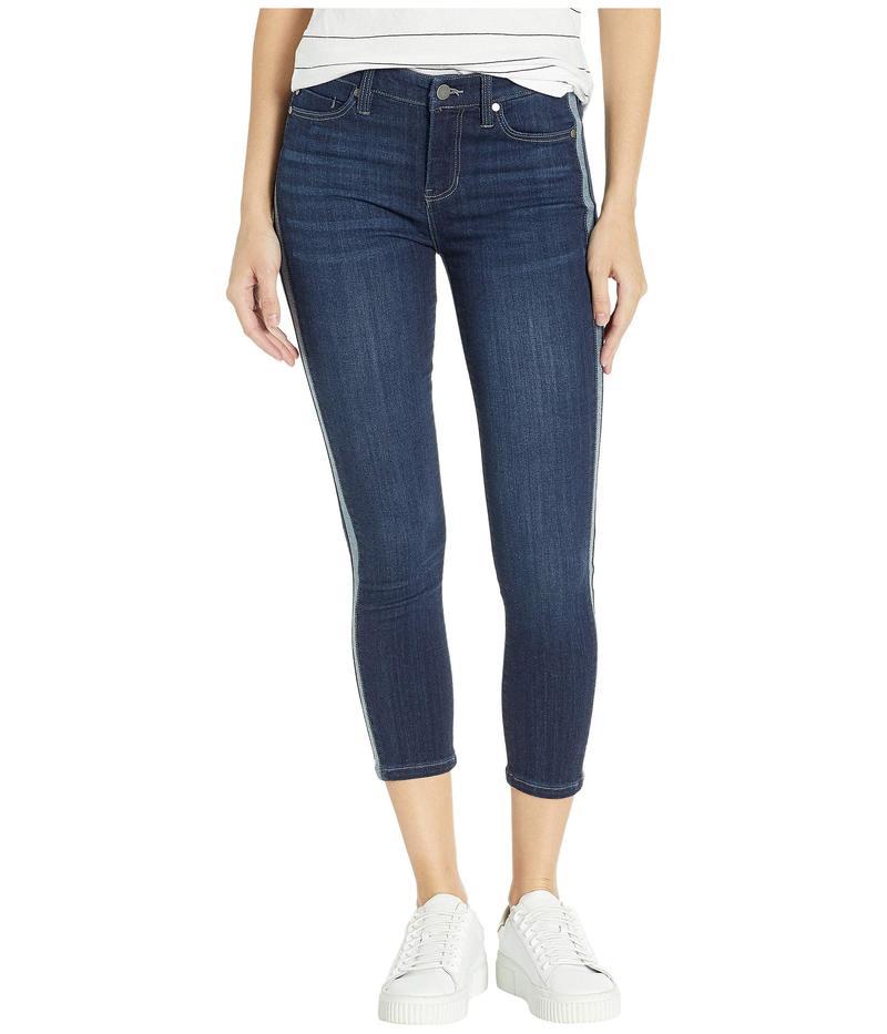 リバプール レディース デニムパンツ ボトムス Abby Crop Skinny Jeans w/ Reverse Side Inset in Freemont Freemont