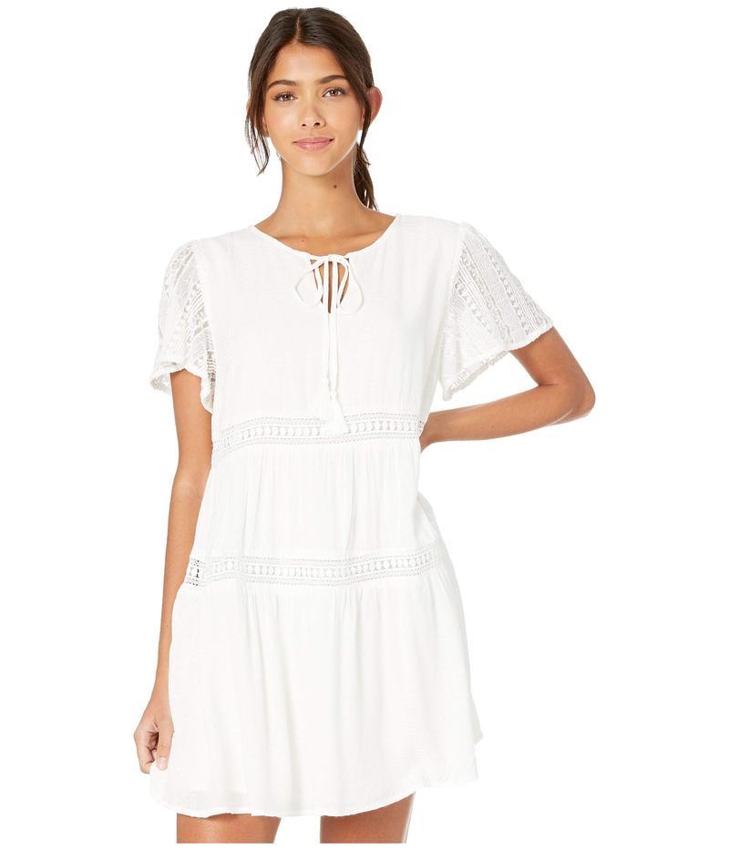 ミスミー レディース ワンピース トップス Mini Dress with Tie Neck Off-White