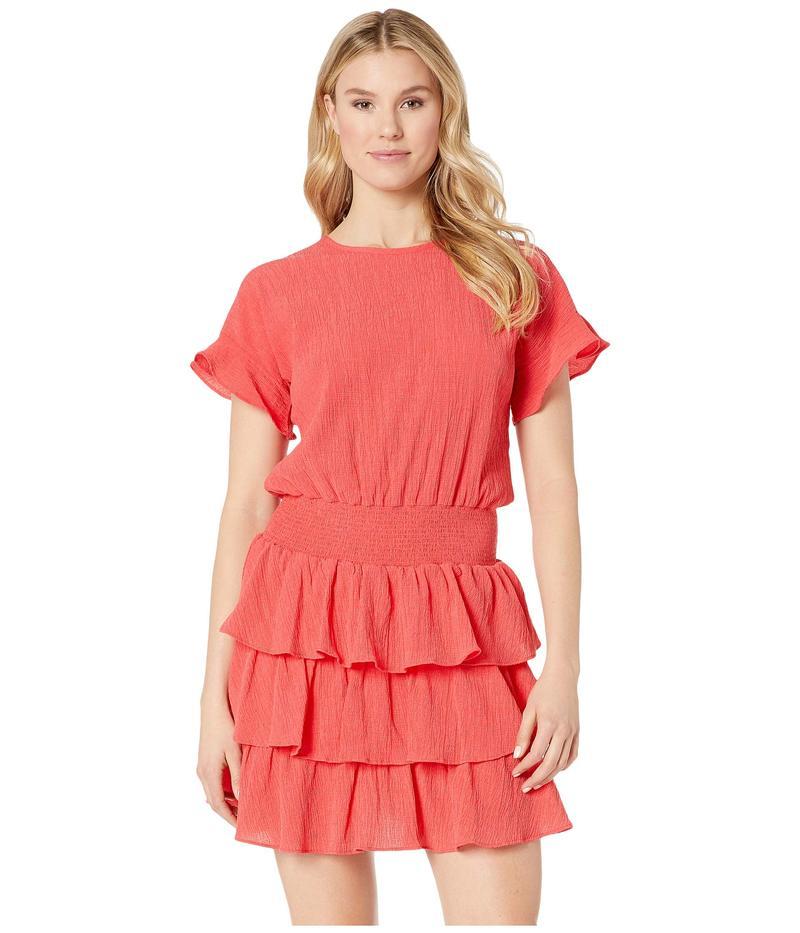 マイケルコース レディース ワンピース トップス Pucker T-Shirt Smock Dress Sea Coral