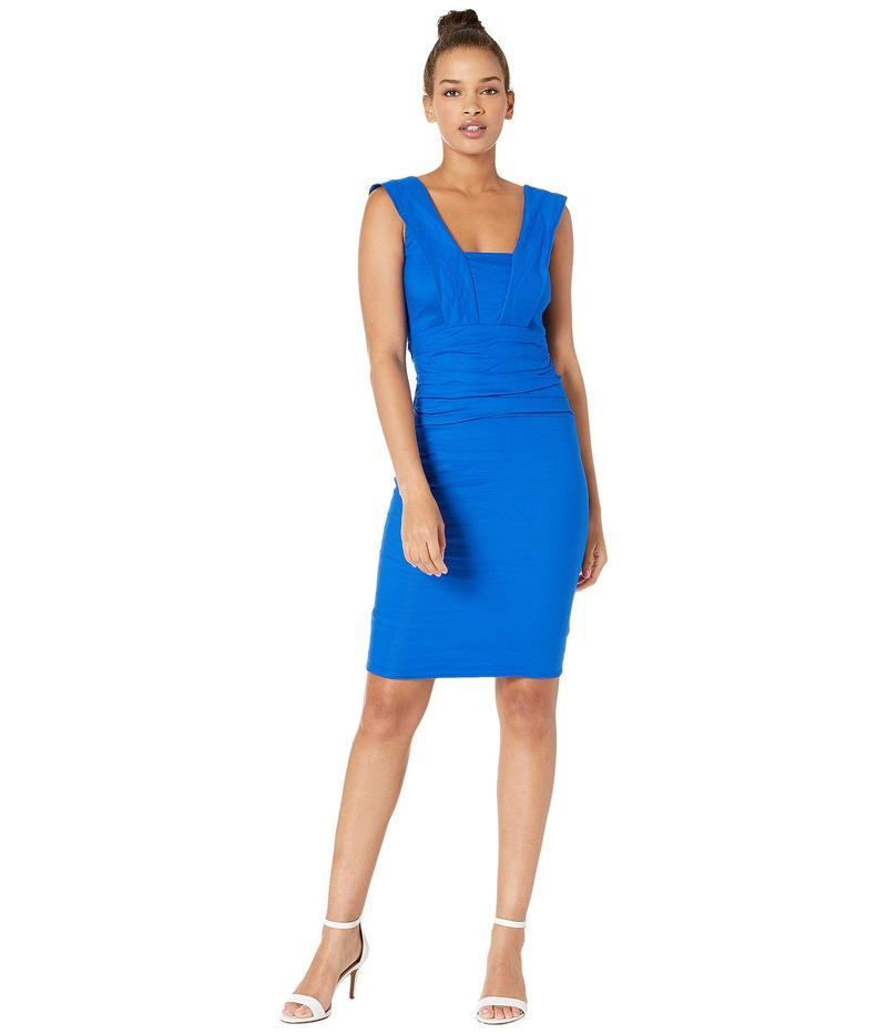 ニコルミラー レディース ワンピース トップス Mercury Cotton Metal Dress Bondi Blue