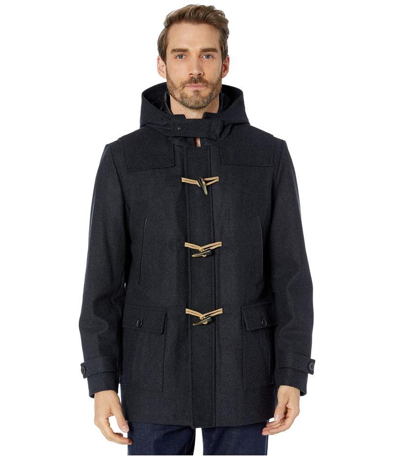 ナウティカ メンズ コート アウター Hooded Wool Toggle Coat w/ Quilted Lining Charcoal
