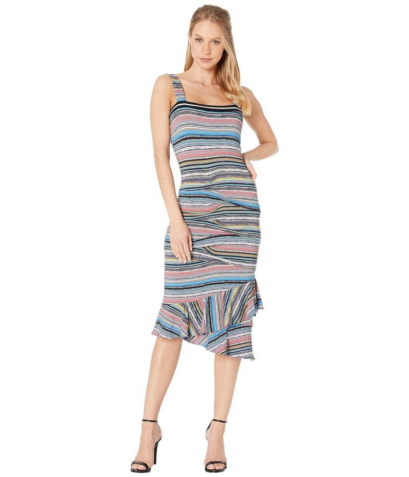 ニコルミラー レディース ワンピース トップス Island Stripe Asymmetrical Ruffle Dress Multicolor