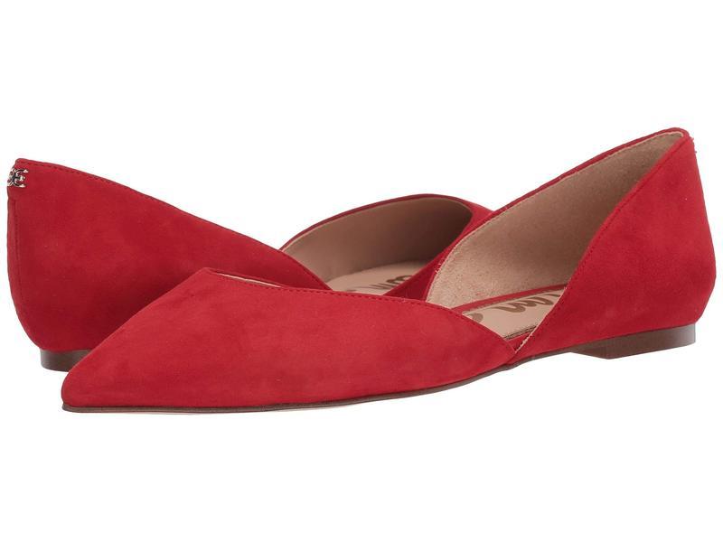 サムエデルマン レディース サンダル シューズ Rodney Lipstick Red Suede Leather