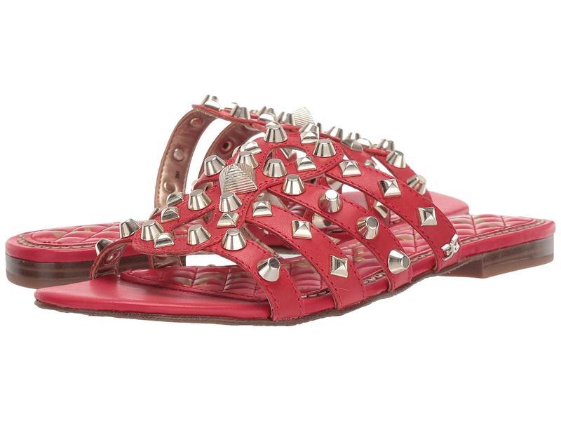 サムエデルマン レディース サンダル シューズ Beatris Candy Red Vaquero Saddle Leather