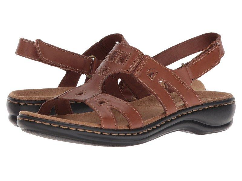 クラークス レディース サンダル シューズ Leisa Annual Dark Tan Leather