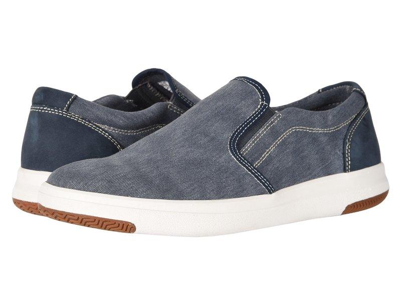 ドッカーズ メンズ スニーカー シューズ Nobel Smart Series Slip-On Sneaker with Smart 360 Flex and NeverWet Navy Washed Canvas