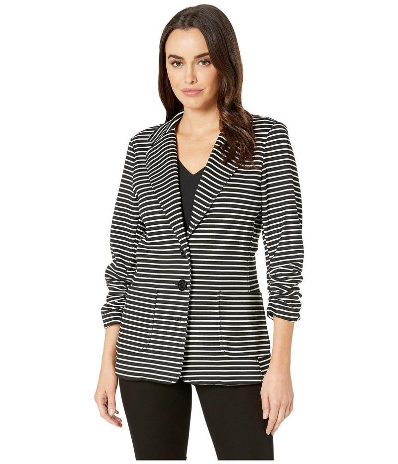 カレンケーン レディース コート アウター Shirred Sleeve Stripe Jacket Stripe