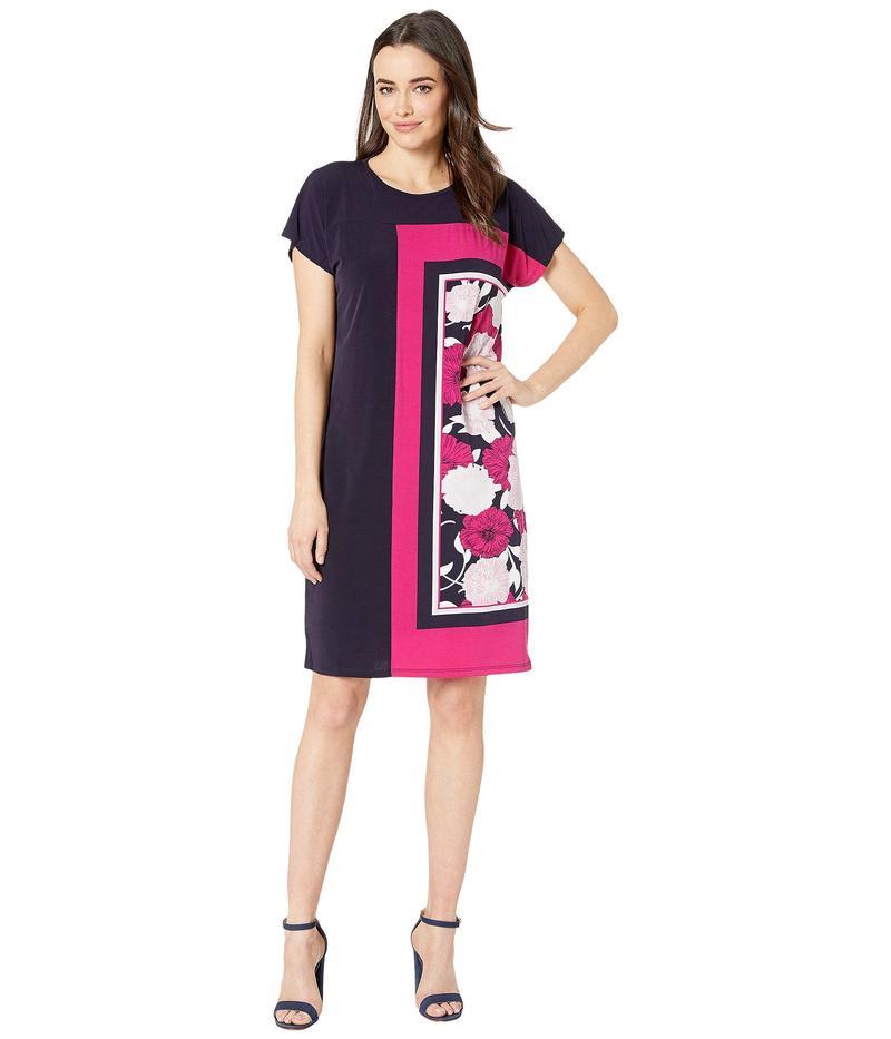 ジョーンズニューヨーク レディース ワンピース トップス Scarf Dress Pink Floral