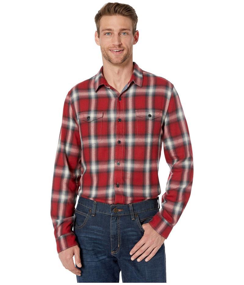 トゥルーグリット メンズ シャツ トップス Spirit In The Sky Bowery Checks Cotton Blend Long Sleeve Two-Pocket Shirt Red