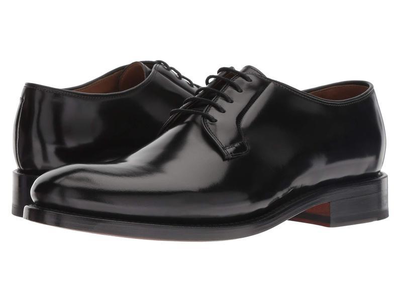 ボストニアン メンズ オックスフォード シューズ Rhodes Plain Black Leather