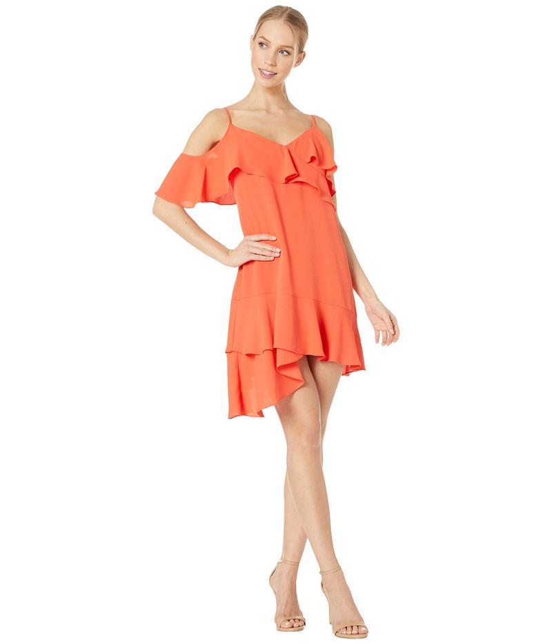 ビーシービージーマックスアズリア レディース ワンピース トップス Ruffle Short Cocktail Dress Poinsettia