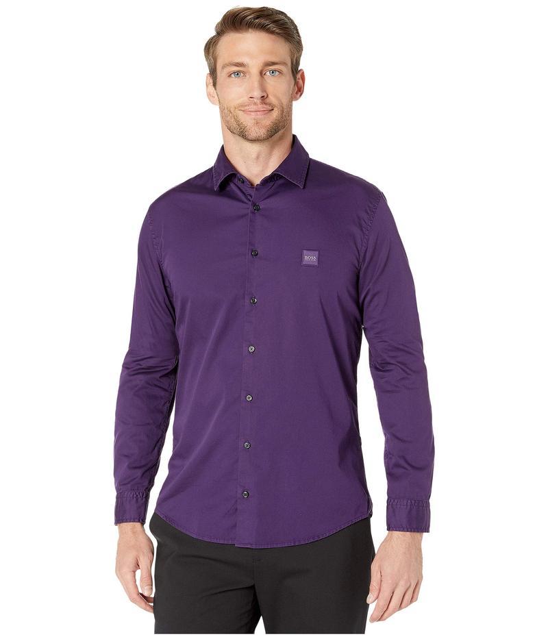ヒューゴボス メンズ シャツ トップス Mypop_2 Shirt Dark Purple