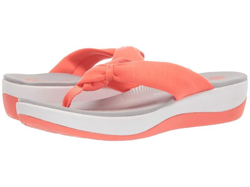 クラークス レディース サンダル シューズ Arla Glison Bright Coral Solid Textile