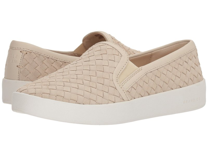 コールハーン レディース スニーカー シューズ Grandpro Spectator Slip-On Brazilian Sand Woven Suede/Brazilian Sand Leather/Optic White