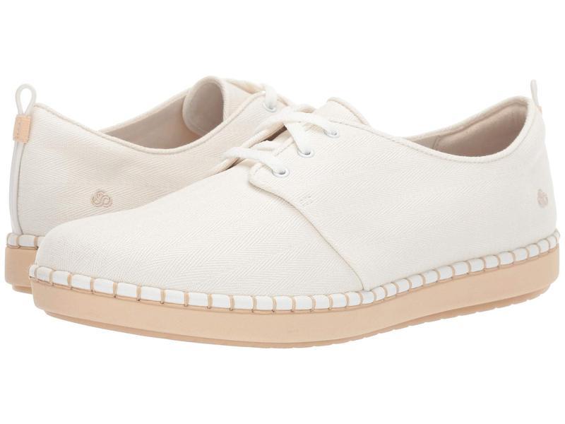 クラークス レディース スニーカー シューズ Step Glow Lace White Textile