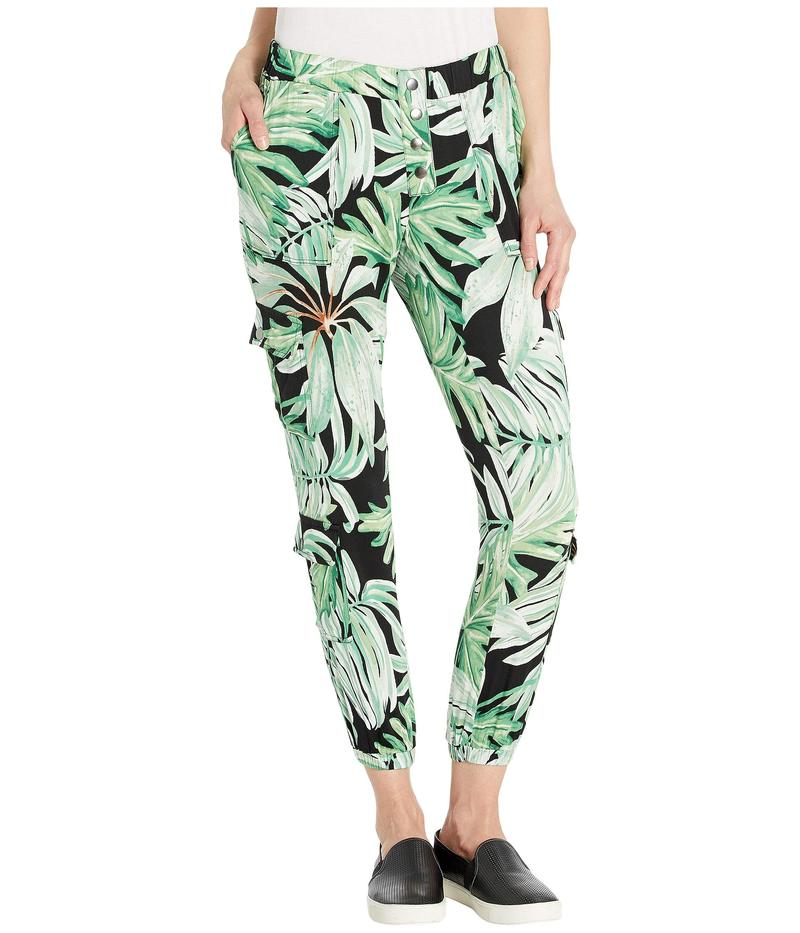 チェイサー レディース カジュアルパンツ ボトムス Heirloom Woven High-Waisted Snap Front Cargo Pants Palm Print