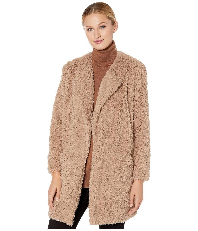 デモクラシー レディース コート アウター Long Sleeve Faux Fur Coat Camel