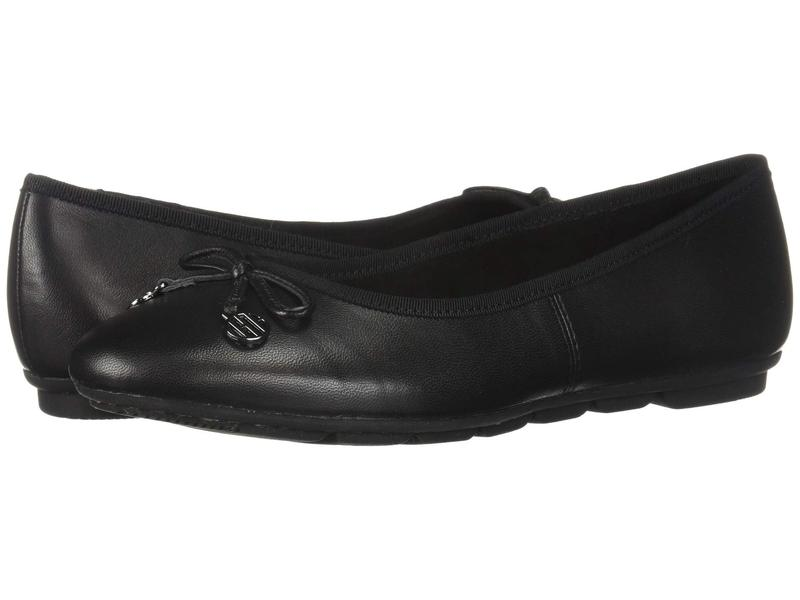 ハッシュパピー レディース サンダル シューズ Abby Bow Ballet Black Leather