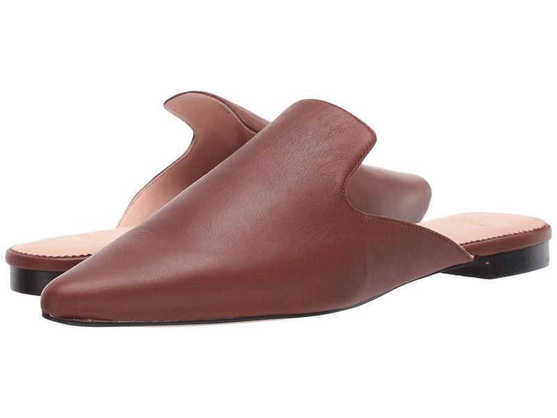 ジェイクルー レディース サンダル シューズ Soft Basic Leather Marina Slide Burnished Brown