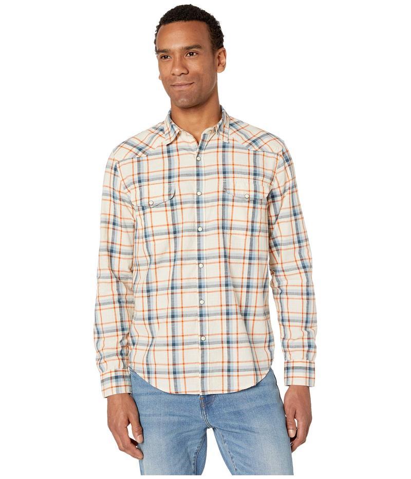 ラッキーブランド メンズ シャツ トップス Long Sleeve Santa Fe Western Shirt Natural Plaid