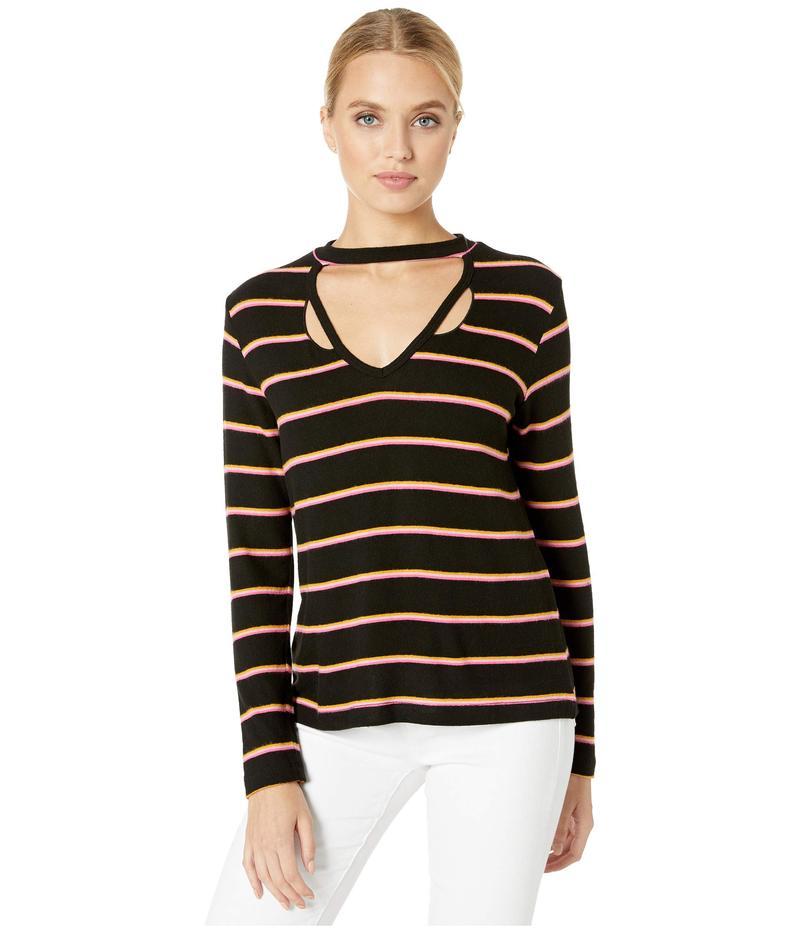 エルエヌエー レディース シャツ トップス Brushed Helena Sweatshirt Black/Pink Stripe