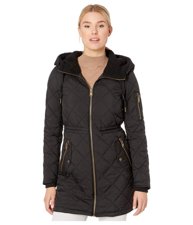 マークニューヨーク レディース コート アウター Crinkle Cloth w/ Sherpa Black