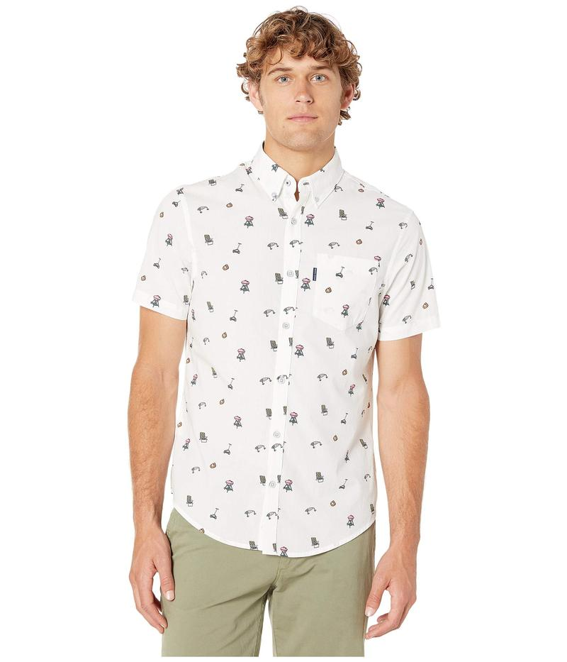 オリジナルペンギン メンズ シャツ トップス Short Sleeve Dad Activity Print Shirt Bright White