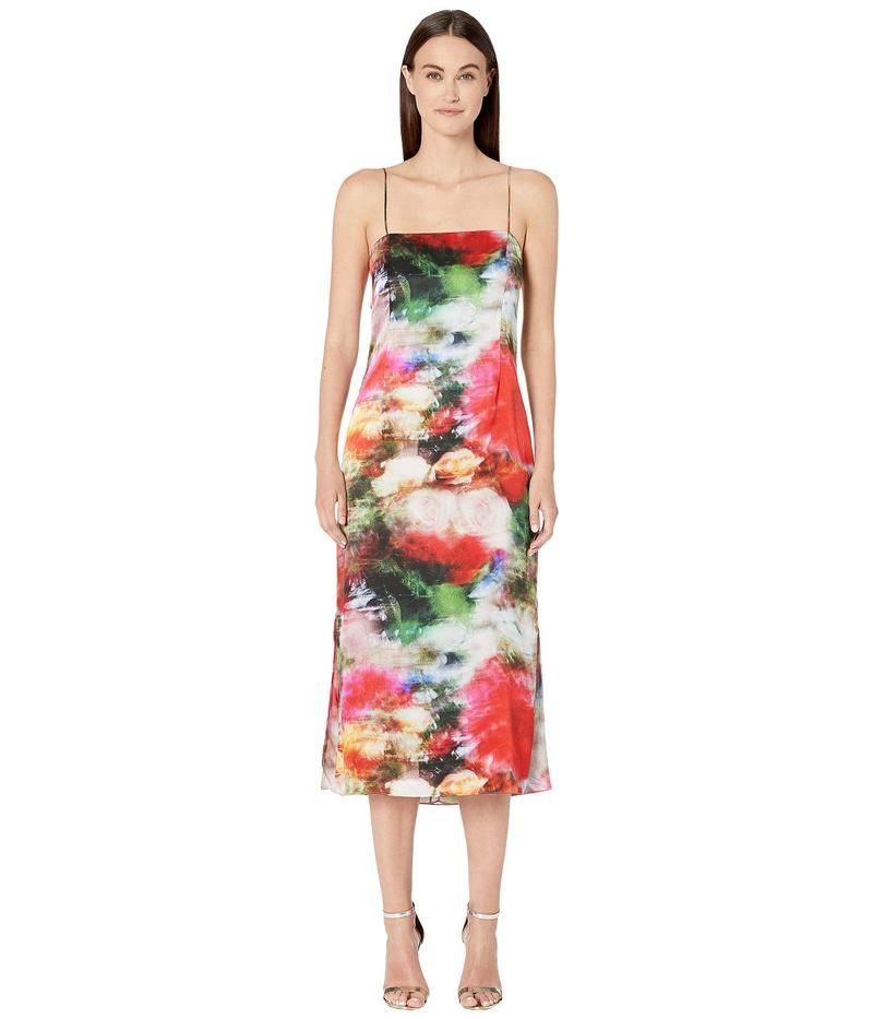 アダム リピズ レディース ワンピース トップス Printed Hammered Silk Cami Dress Multi Floral