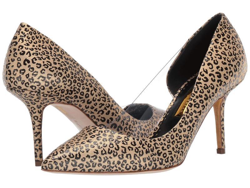ルパートサンダーソン レディース ヒール シューズ Geminy Pump Gold Leopard Laminate PVC