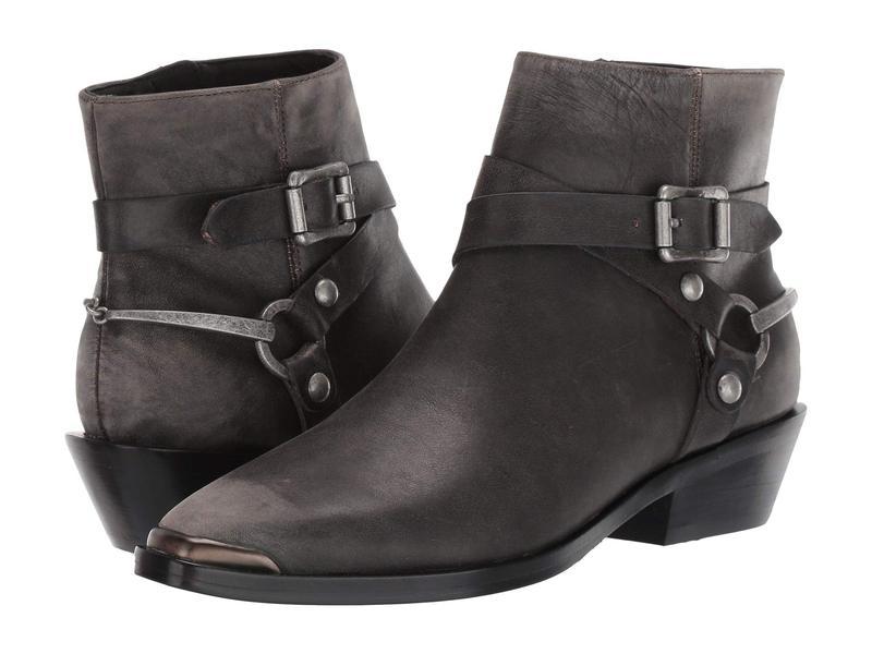 シガーソン モリソン レディース ブーツ・レインブーツ シューズ Jade Dark Gray Distressed Leather