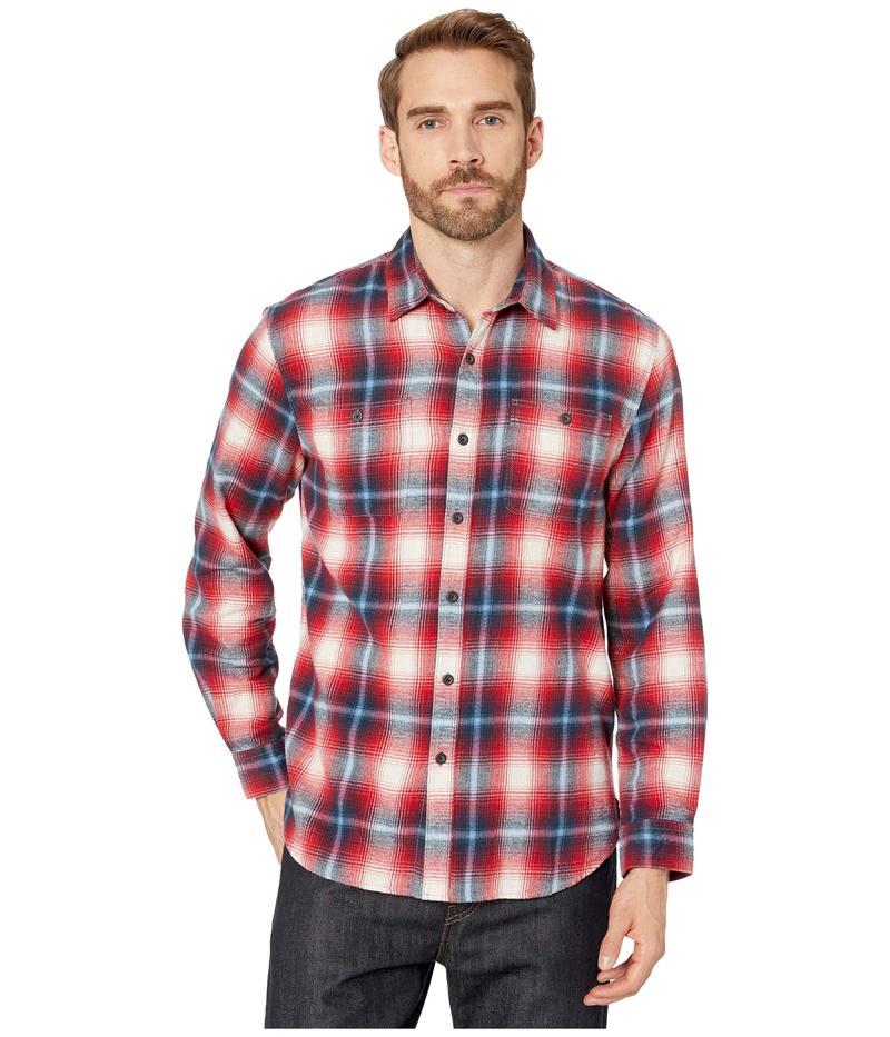 トゥルーグリット メンズ シャツ トップス Highway 1 Roadtrip Sundance Soft Flannel Plaid Long Sleeve Two-Pocket Shirt Red