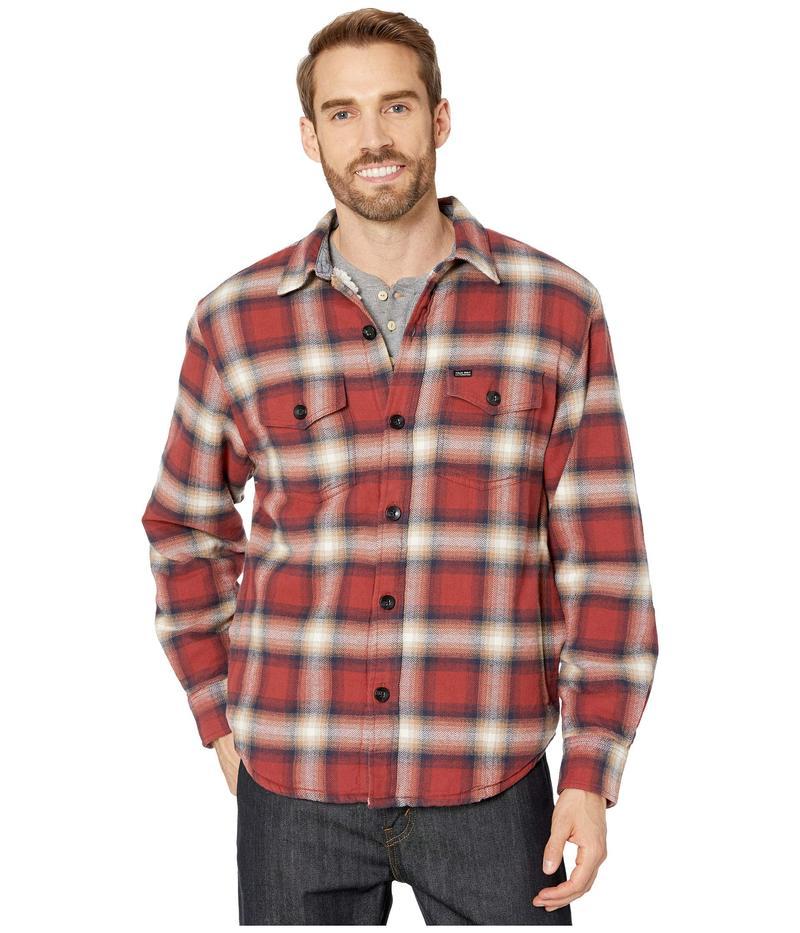 トゥルーグリット メンズ コート アウター Summit Shirt Jacket with Ultra Soft Sherpa Lining Red