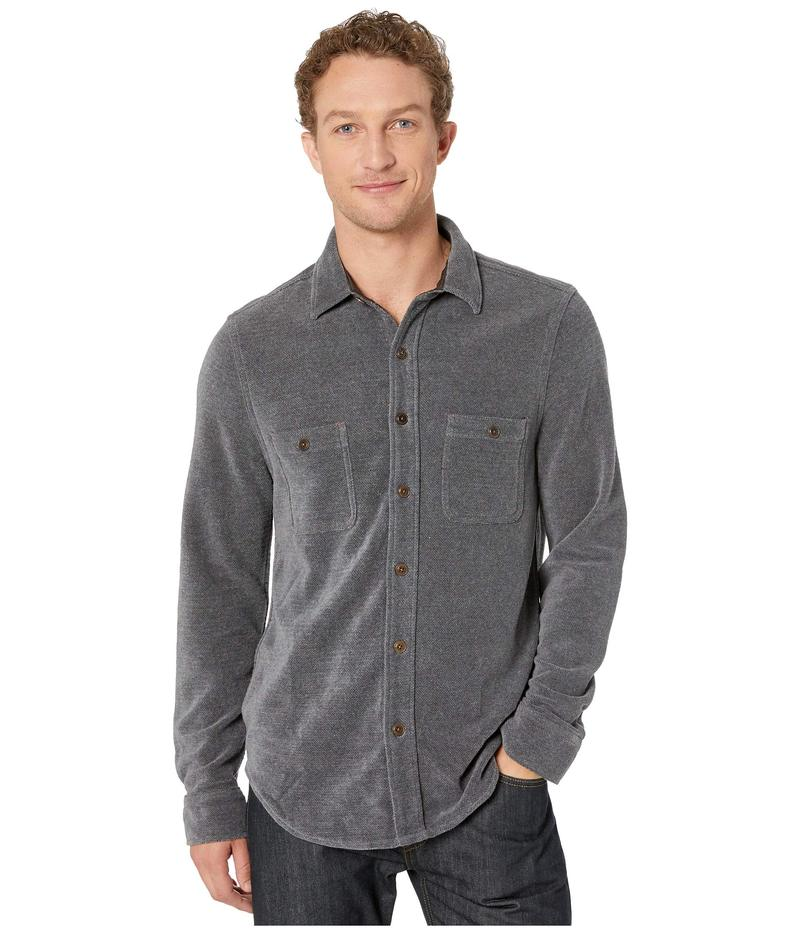 トゥルーグリット メンズ コート アウター Softest Chenille Long Sleeve Two-Pocket Shirt Jacket Charcoal