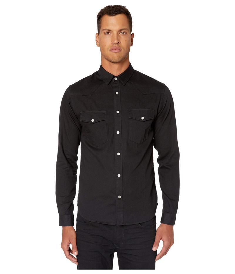 ザ・クープルス メンズ シャツ トップス Button Down Shirt in A Japanese Denim Black Washed