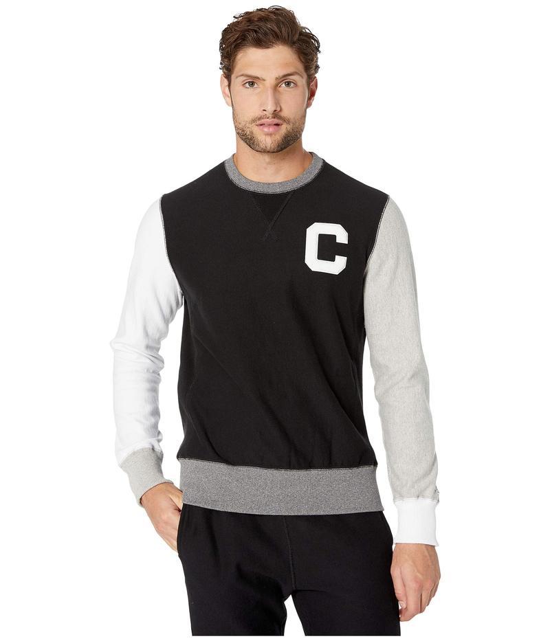 トッドスナイダー メンズ パーカー・スウェット アウター Todd Snyder + Champion Color Block Sweatshirt Black