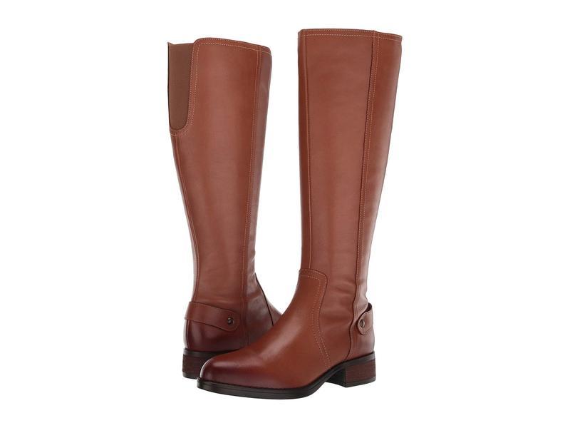スティーブ マデン レディース ブーツ・レインブーツ シューズ Jax Riding Boot - Wide Shaft Cognac Leather