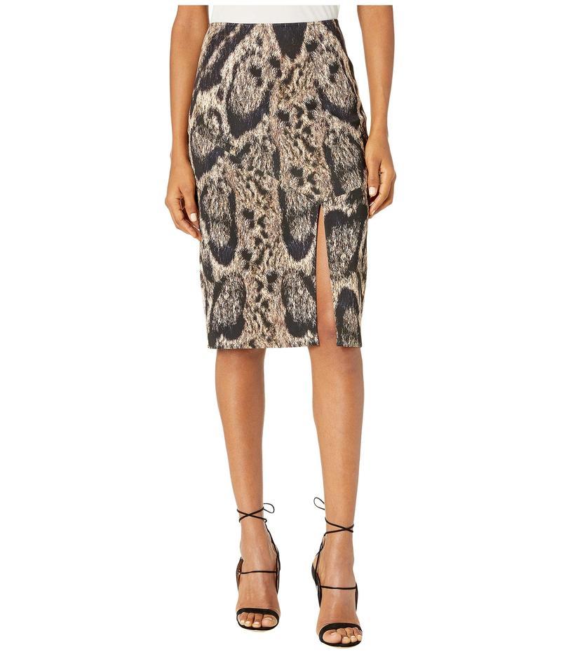 イーガルアズロベル レディース スカート ボトムス Leopard Printed Scuba Skirt Camel Multi