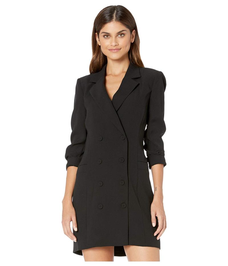 ビーシービージーマックスアズリア レディース ワンピース トップス Tuxedo Blazer Dress Black